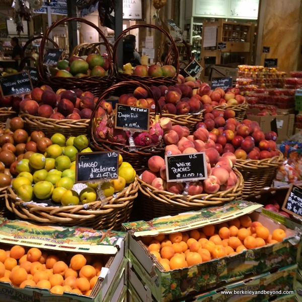 fresh fruit stand in Eataly in NYC