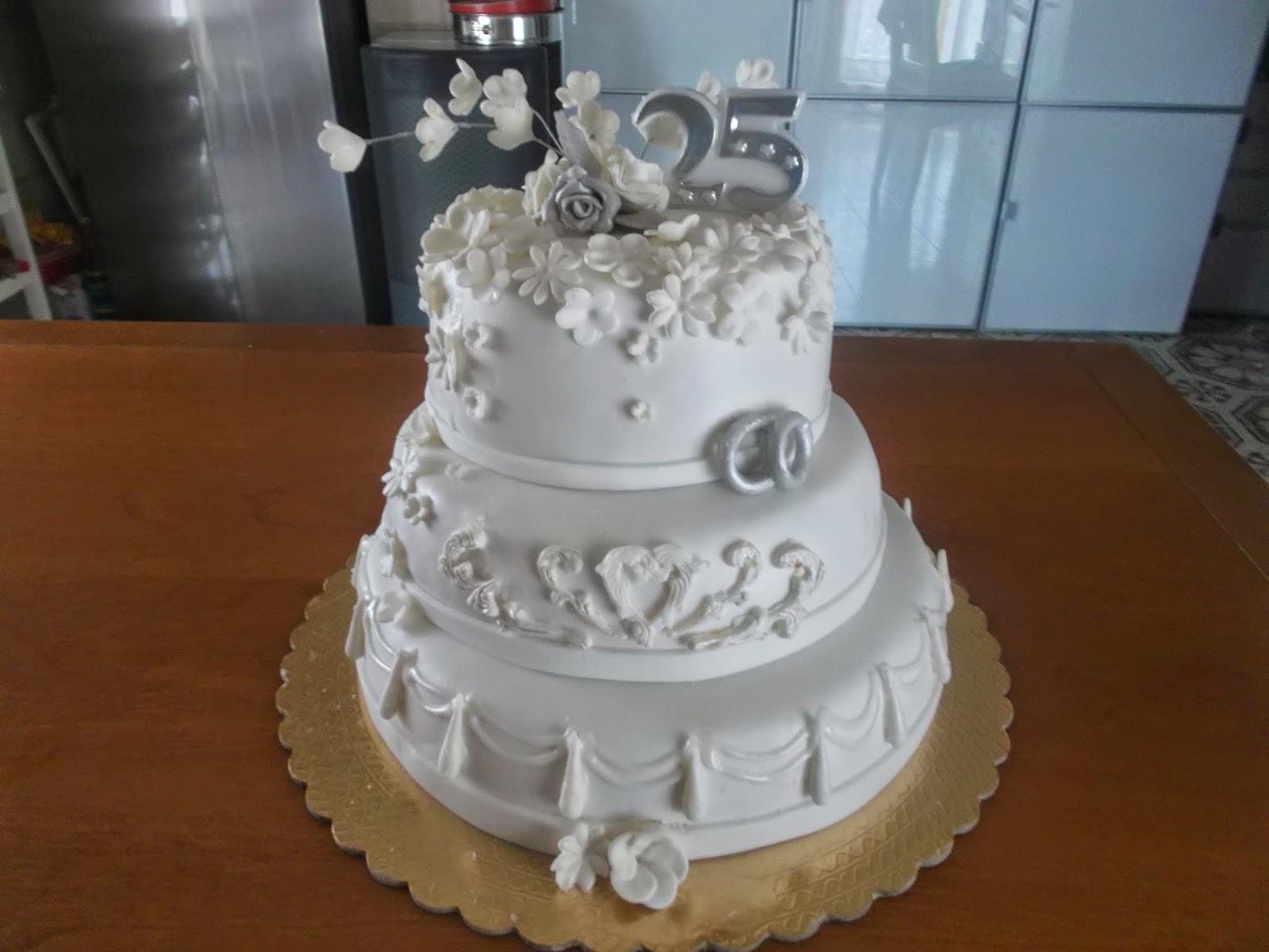 Super le torte di adele: torta 25 anni di matrimonio NQ97