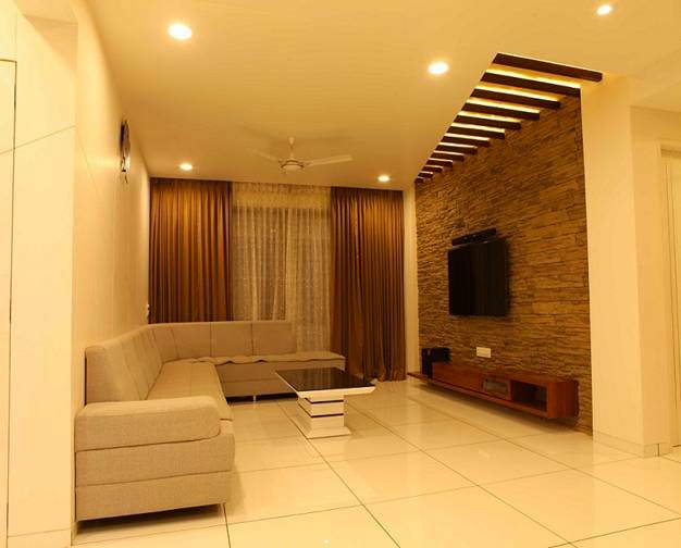 Contractors in Chennai: Interior Wall Cladding,Living room ...