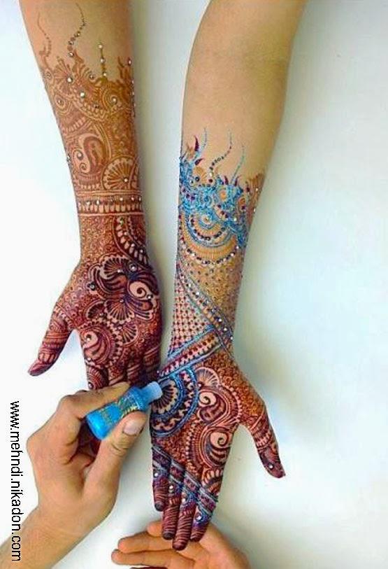 Henna Mehndi: BEAUTIFUL WALLPAPERS: Glitter Henna Mehndi Designs Images