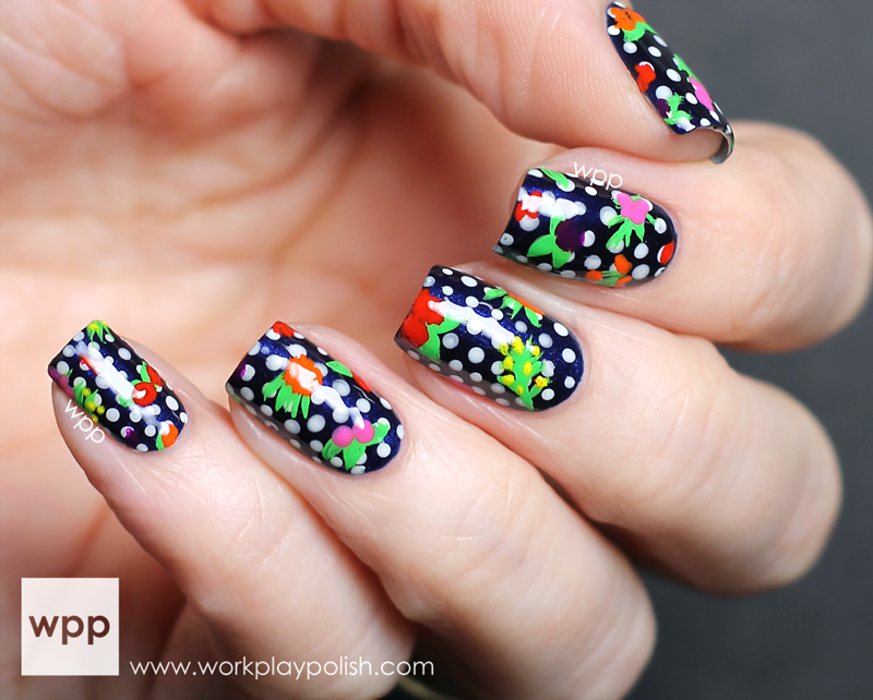 Zoya Oscar de la Renta Flowered Nail Art
