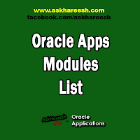 Oracle Apps Modules List, www.askhareesh.com