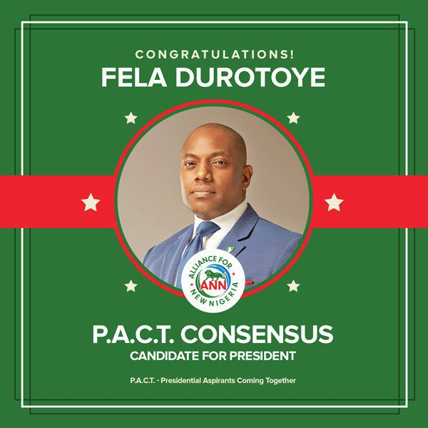 Twitter on fire as Fela Durotoye emerged as consensus presidential candidate at PACT meeting (Photos)