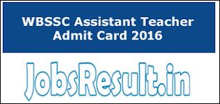 WBSSC Admit Card 2016