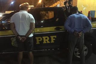 Polícia Rodoviária Federal prende dupla suspeita de estelionato no Nordeste