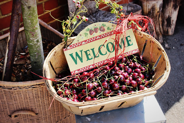 Selling local produce such as Kentish cherries