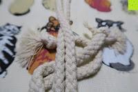 Kordel: Damero Rollentasche für Gelstift Schreibzubehör gerollter Halter mit Leiwand für Buntstift Reiseorganisator-Beutel für Künstler, Mehrzweck (keine Bleistifte im Lieferumfang enthalten), 48 Löcher, Katzen