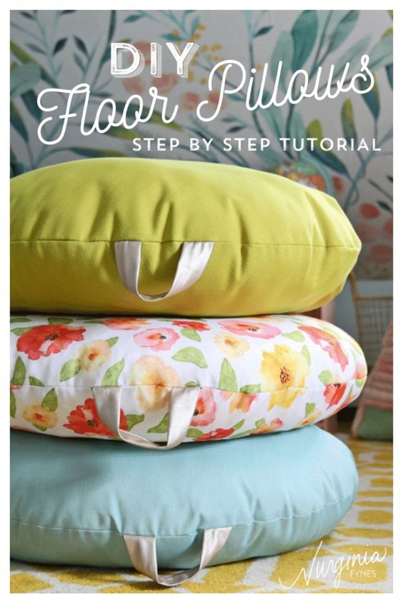 How To Sew A DIY Floor Pillow: A Step By Step Tutorial