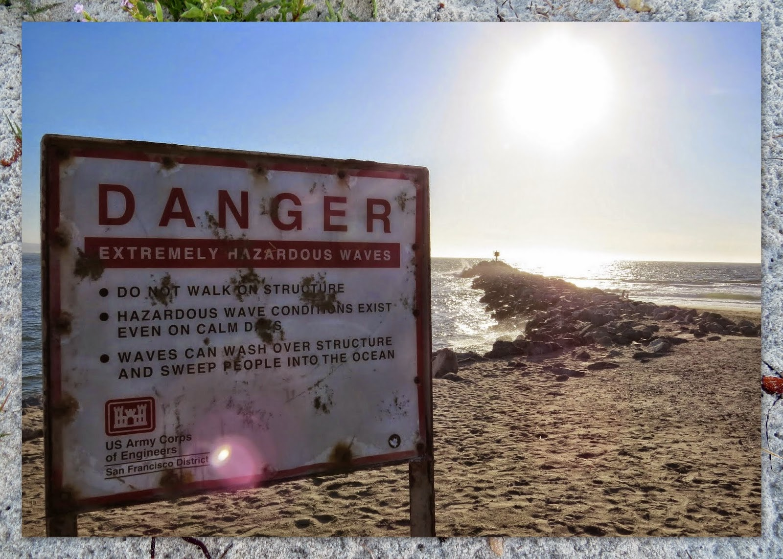 Beach Warning at Moss Landing