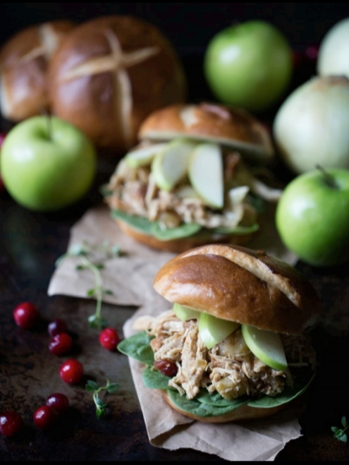 Autumn Apple Chicken Sandwiches