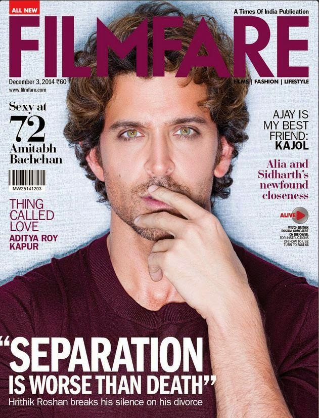 Hrithik Roshan covers Filmfare December Issue