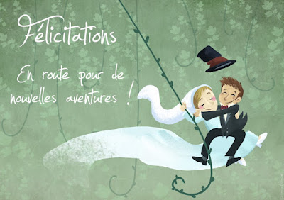 Texte pour une carte de mariage félicitation