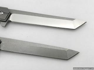 Quartermaster Qwaiken style titanium frame-lock flippers with D2 blade