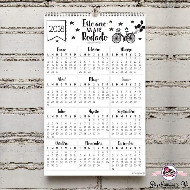 """Calendario anual 2018 """"Este año va a ir rodado"""" Monerías en fieltro pamonisimayo"""