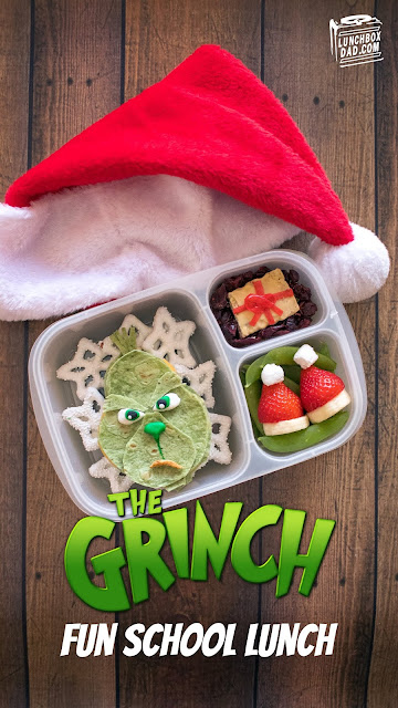 How to make a Grinch school lunch for your kids this Christmas season!