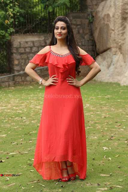 Manjusha looks super cute beautiful in Red Dress ~  Exclusive 001.JPG