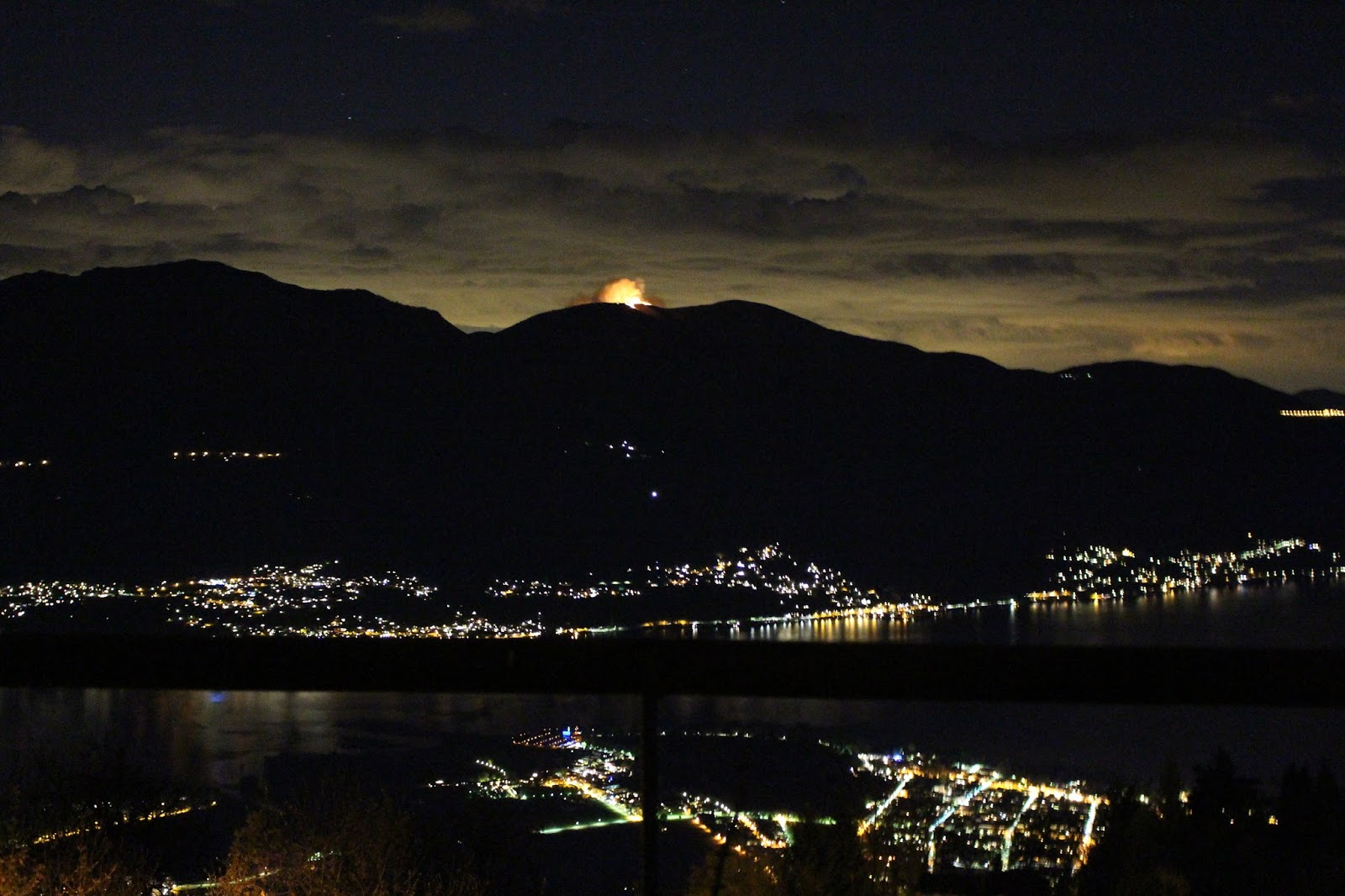 Waldbrand im Tessin, Lago Maggiore