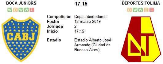 Boca Juniors vs Deportes Tolima en VIVO