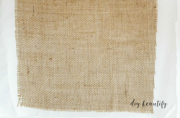 iron freezer paper onto burlap