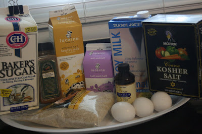the ingredients to make crockpot rice pudding in your slow cooker