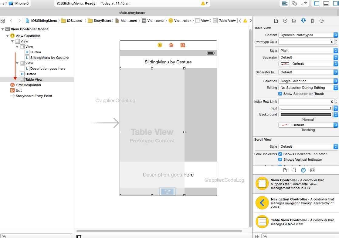 Sliding menu in Xamarin iOS using GestureRecognizer