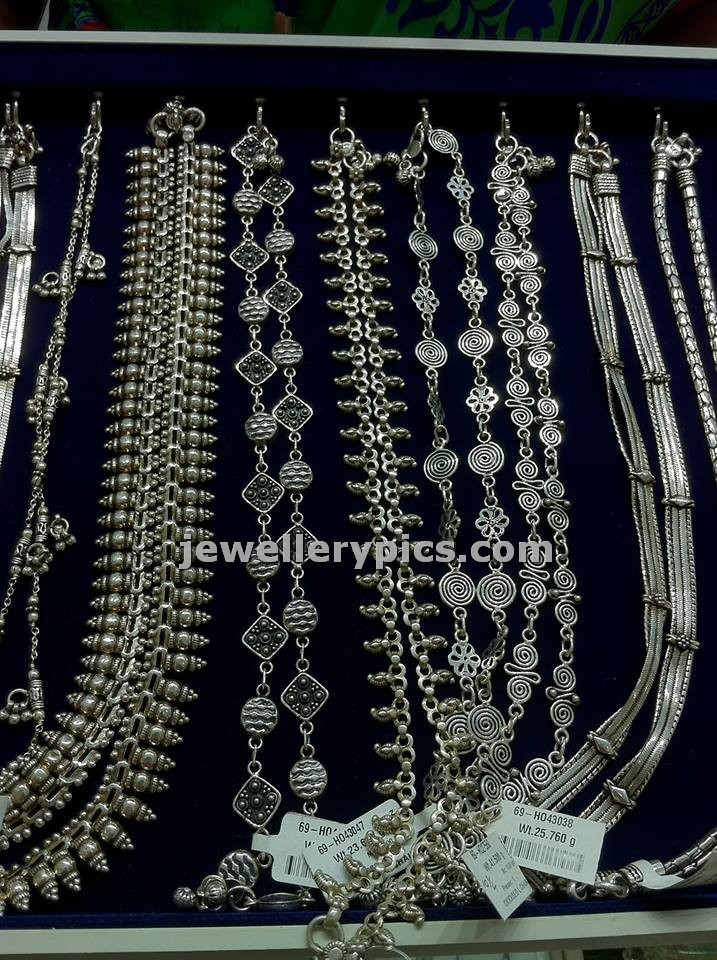 Silver Anklets Or Pattilu In Nalli Jewellers Latest Jewellery Designs