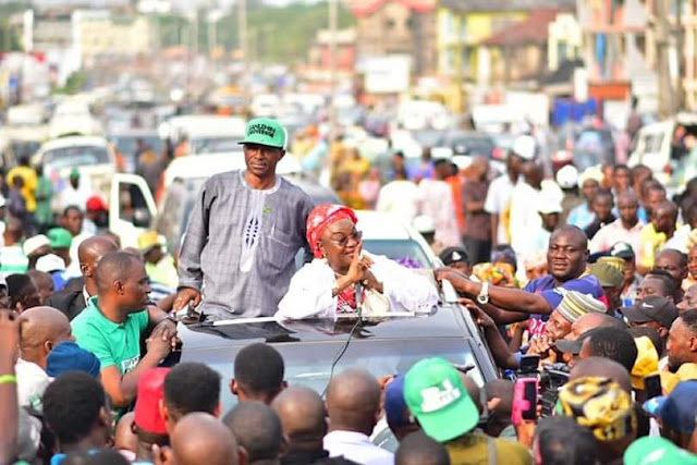 ADC Gubernatorial Candidate In Oyo, Lanlehin Holds Rally (Photos)