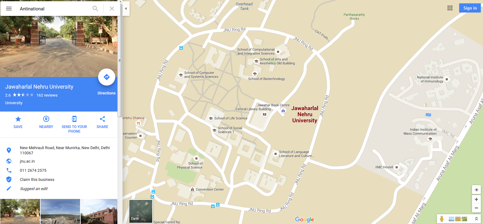 How did Google Maps brand JNU as Antinational    Digital Marketing     The Map Maker  a Google tool  that gives people ability to edit map  information and supply additional information seems like the obvious  culprit