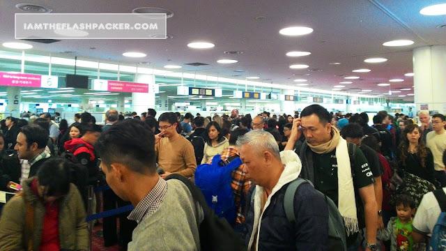 Sleep at Haneda Airport Tokyo - Immigration Check Point