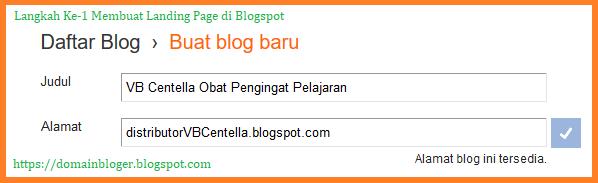 Lankah ke-1 Membuat Landing Page di Blogspot