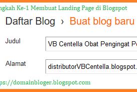 Cara Membuat Landing Page di Blogspot Gratis