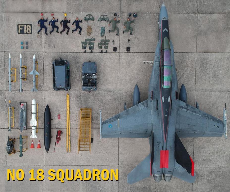 F / A-18D Hornet ВПС Малайзії