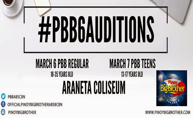 Kapamilya Pinoy Big Brother (PBB) Come Back Audition Dates for Season 6