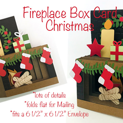 Fireplace Box Card and instructions