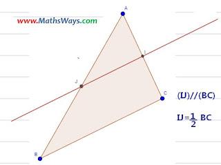 التوازي و منتصفات اضلاع مثلث جزء 1 - الثانية اعدادي