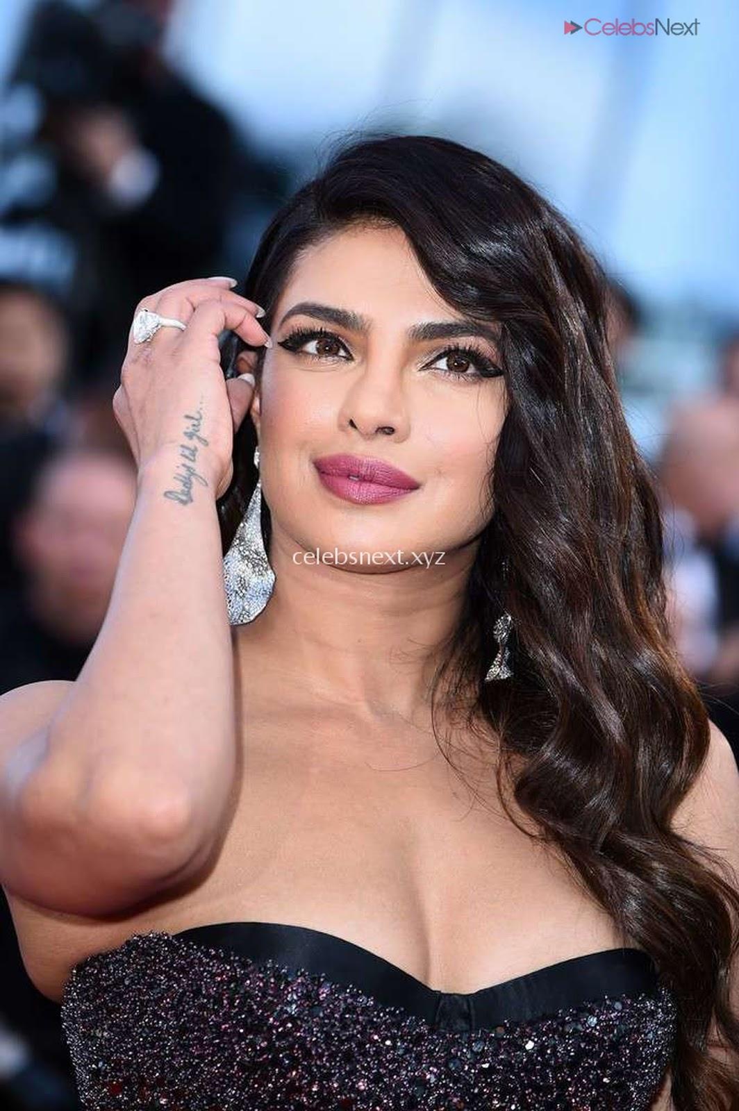 Priyanka Chopra Rocks the Rocketman Screening Cannes ina Sizzling Dark Gown- CEleBsNext.XYZ-Exclusive