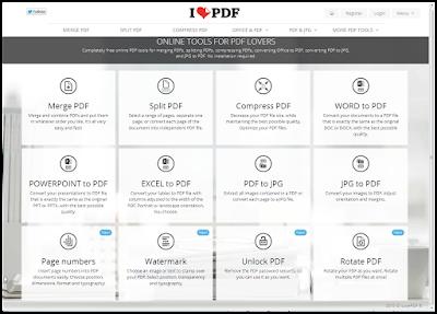 طريقة القيام  بمختلف العمليات علي ملفات pdf لاين