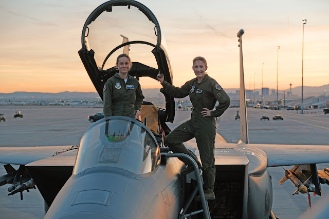 Brie Larson preparing for Captain Marvel with Jeannie Leavitt on an F-15