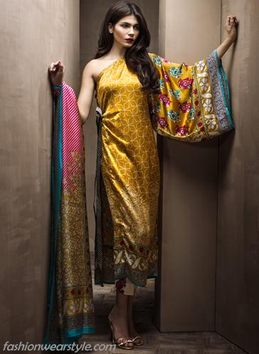 Hot Silky Dresses By Sana Safinaz www.fashionwearstyle.com