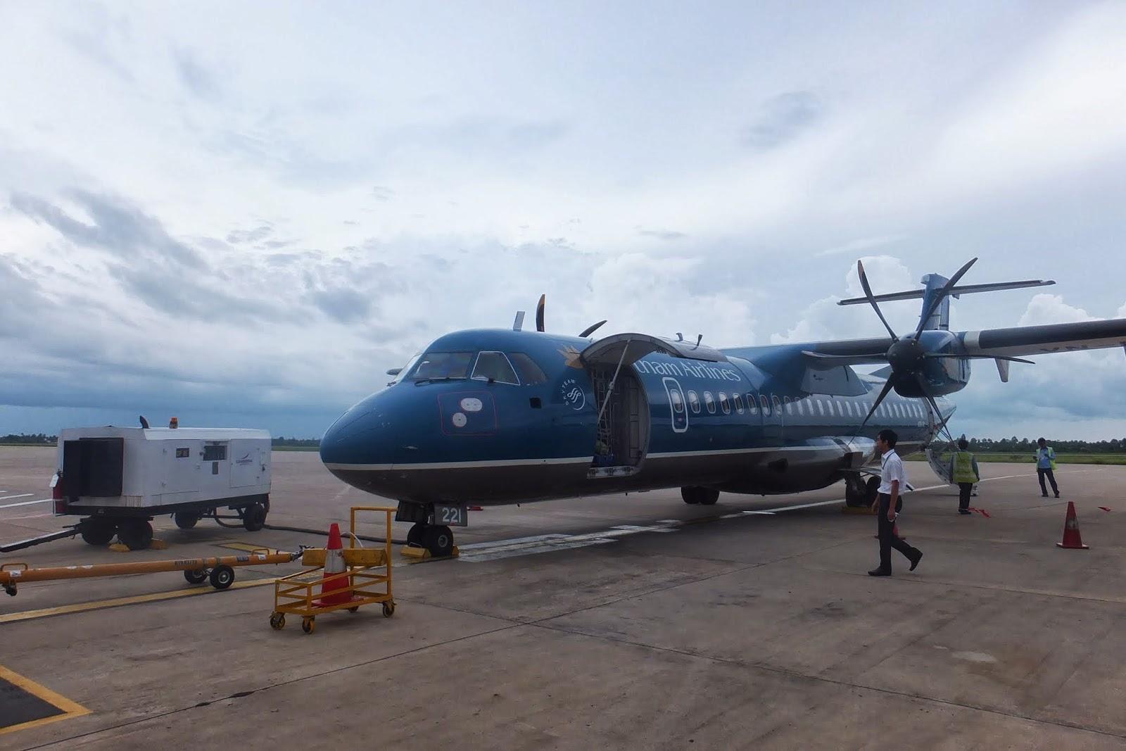 ATR72-vietnamair-incambodia ベトナム航空のプロペラ機