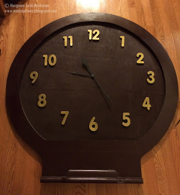 giant wall clock diy from old mirror