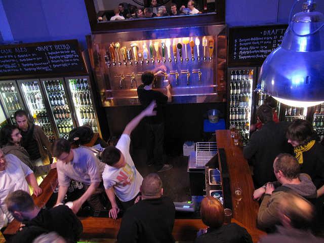 Euston Tap beer bar in London