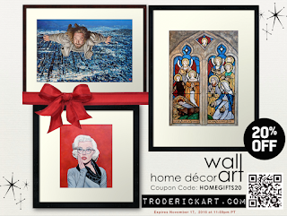 20% of Wall Art and throw pillows at troderickart.com