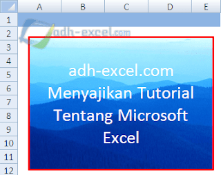 adh-excel.com teks dan gambar dalam shape excel
