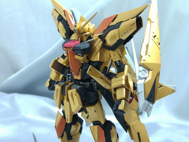 Custom Build: MG 1/100 Aegis Gundam [Gold Frame]