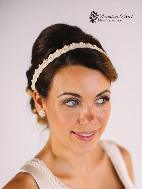 Diadema y pendientes para novias