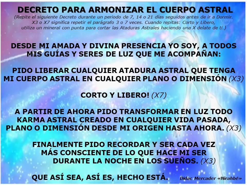 Armonizar cuerpo astral