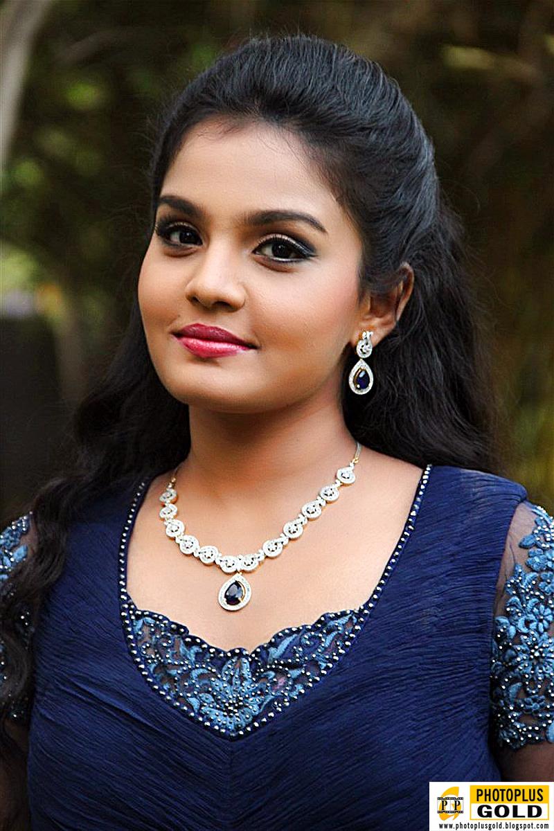 Most Beautiful South Indian Film Artist Maaya In Long Blue -2335