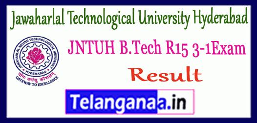 JNTUH Jawaharlal Technological University Hyderabad B.Tech 3-1 R 15 Result