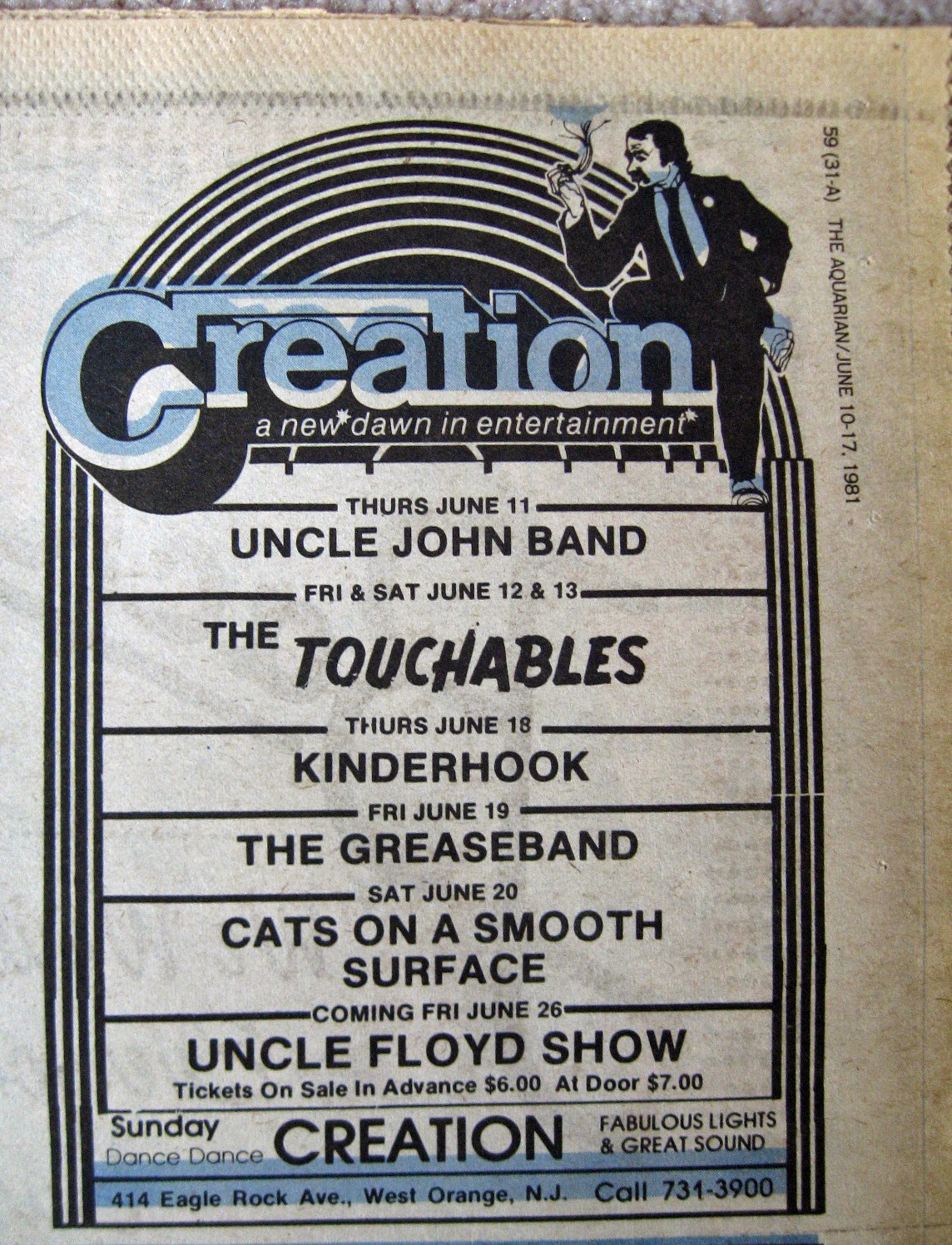 Creation band line up 1981